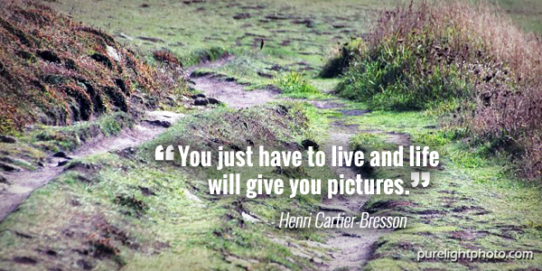 """You just have to live and life will give you pictures."" - Henri Cartier-Bresson"