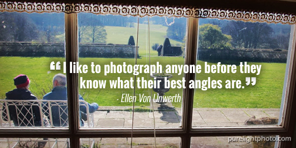 """I like to photograph anyone before they know what their best angles are."" Ellen Von Unwerth"