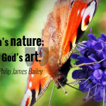 """Art is man's nature; nature is God's art."" - Philip James Bailey"