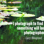 """I photograph to find out what something will look like photographed."" - Garry Winogrand"
