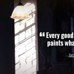 """Every good painter paints what he is."" - Jackson Pollock"