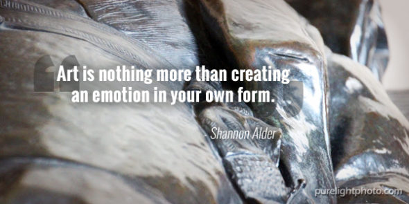 """Art is nothing more than creating an emotion in your own form."" - Shannon Adler"